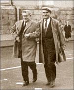 Бывшие главреды «ЛГ» Алексей Сурков и Константин Симонов. 1961 год ; Николай КОЧНЕВ