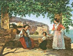Аполлон Мокрицкий. Рим. Итальянки на террасе (Тарантелла). 1846