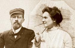 Антон Павлович и Ольга Леонардовна на даче у Станиславского (в Любимовке)
