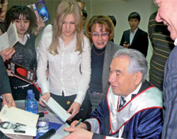Встреча со студентами РУДН, 2007 г.