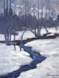 Ранняя весна. Лесной ручей, 1920-е