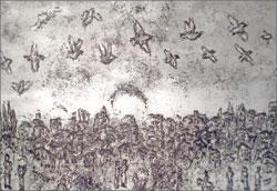 М. Шагал. Иллюстрация к рассказу А. Мальро «И на земле»