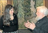 Николай Желтушко – куратор пленэра и художник Елизавета Нистратова обсуждают творческие планы