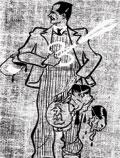 Автошарж в облике охотника за черепами главарей рейха. 1945. Публикуется впервые