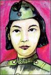 «Портрет Героя Советского Союза Алии Молдагуловой», Назгуль Бакытжанова, 17 лет, Казахстан