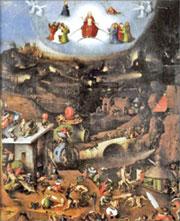 Иероним Босх. «Страшный суд» (фрагмент)