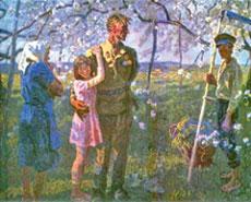 Май 1945 г.;  А. и С. Ткачёвы.