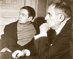 Андрей Вознесенский и Валентин Катаев. 60-е годы.;  Семён ФУРМАН