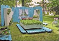 Композиция «Уголок Прованса», победитель в номинации «Сады Республики»;   Фото автора