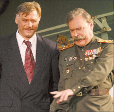 В. Клементьев (Савельев) и А. Самойлов (Иванов)