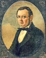 Портрет Петра Павловича Ершова работы Н.Г. Маджи (1850-е гг.).