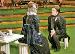 Юный Пушкин (Денис Береснев) с одной из своих первых муз;  Фото автора