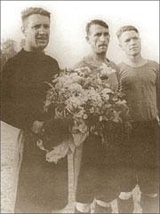 Александр Головкин, Пётр Бурмистров, Иван Дьяков. Куйбышев, 1946 год