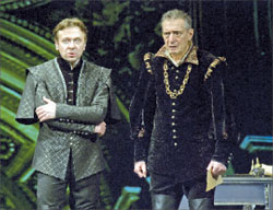 Валерий Ивченко (король Филипп), Валерий Дегтярь (маркиз Поза)